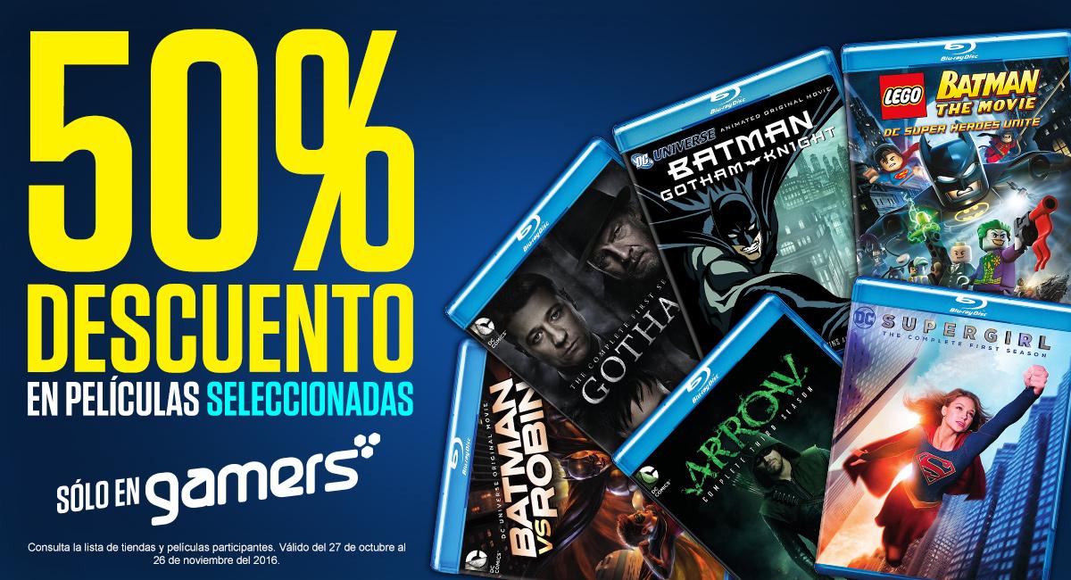 Gamers: 50% En series y peliculas de DC COMICS