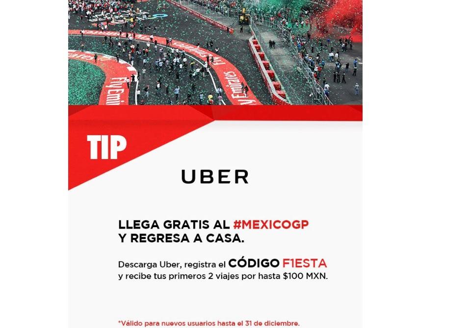Uber: 2 viajes de hasta $100 pesos (nuevos usuarios)