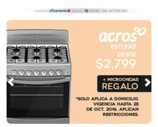 Elektra: Estufa Across  + horno de microondas