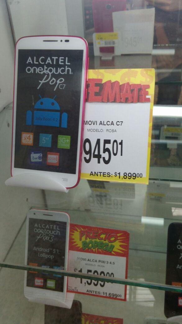 Bodega Aurrerá: Alcatel POP C7 a $945.01, Alcatel Idol 2 a $1,095.01