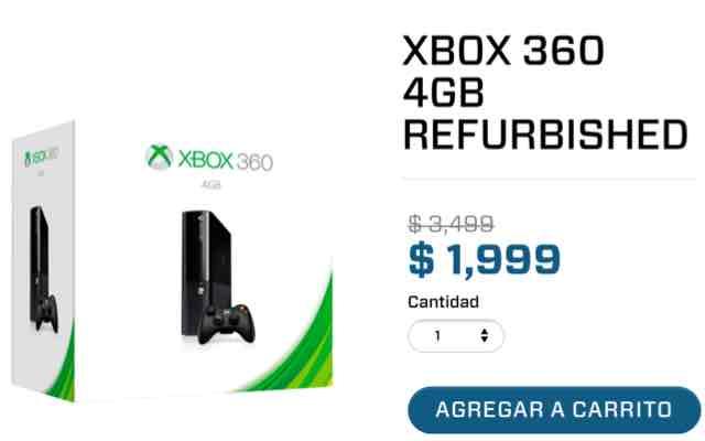 Gamershop: Xbox 360 4gb a $1,999