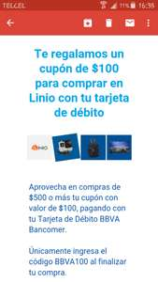 Linio: Cupón de $100 al comprar $500 con Bancomer débito