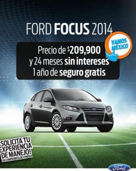 Ford: Focus $209,900 con seguro por un año y 24 meses sin intereses o Fiesta a 18 MSI