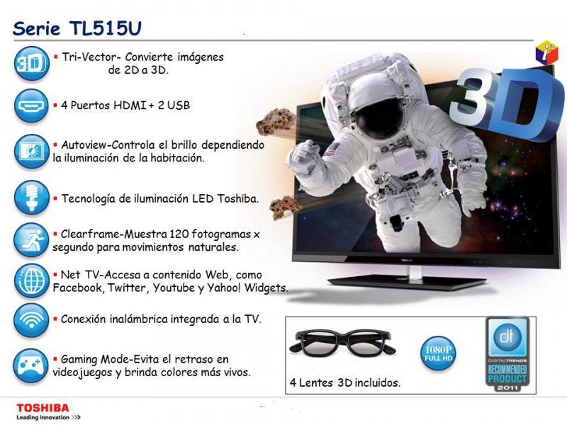 Palacio de Hierro: pantallas LED Toshiba 3D a precio especial, 10% de descuento y 12 MSI