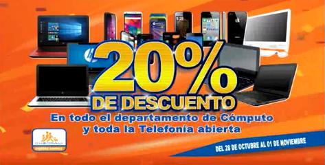 Chedraui: 20% de descuento en todo el departamento de cómputo y toda la telefonía abierta