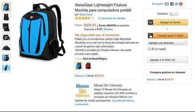 Amazon: Mochila SwissGear $375
