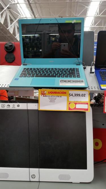 Walmart town center NR: laptop Acer E5-473 en liquidación