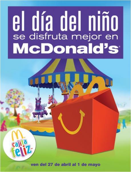McDonald's: 2 juguetes en la cajita feliz por el día del niño