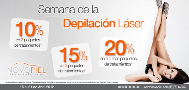 Novopiel: hasta 20% de descuento en tratamiento de depilación láser