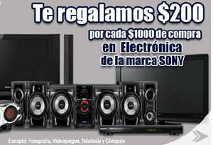 Comercial Mexicana: $200 de bonificación por cada $1,000 en electrónicos Sony
