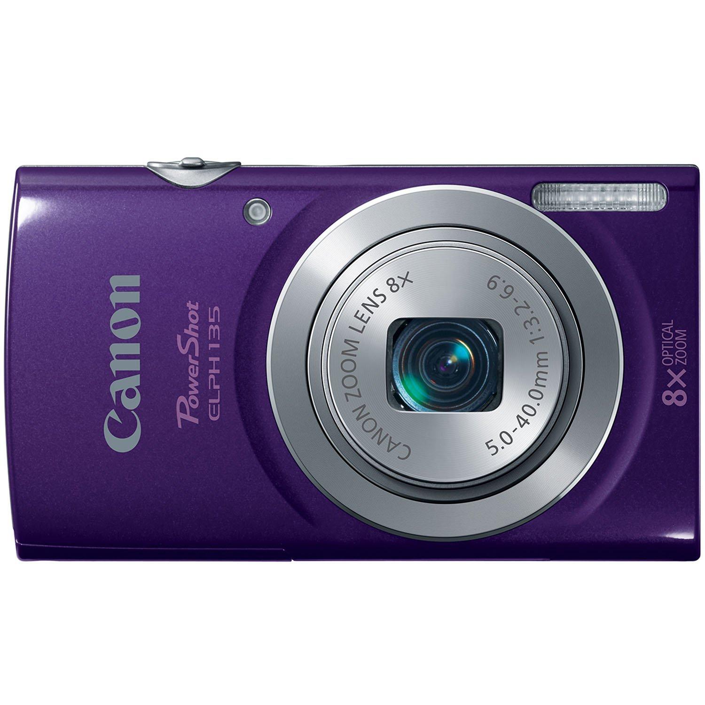 Amazon: Cámara digital 16 MP Canon PowerShot ELPH 135 morada