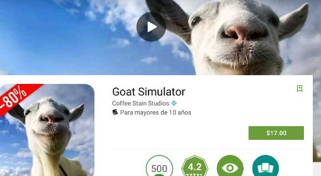 Google Play: Goat Simulator a $17