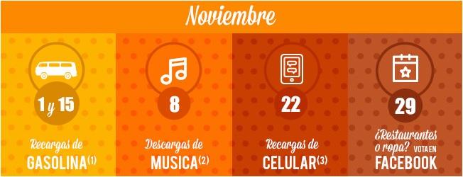 Banamex: Calendario Smartes Noviembre 2016