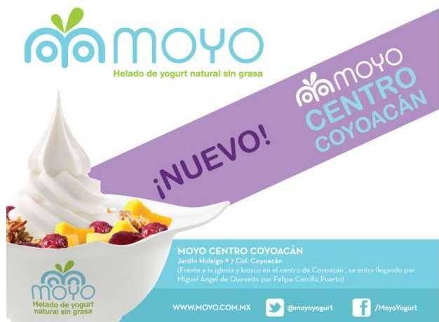 Moyo Frozen Yogurt: mañana cono gratis en Centro Coyoacán