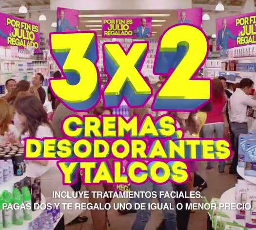 Ofertas de Julio Regalado en La Comer: 3x2 en desodorantes, cremas y más