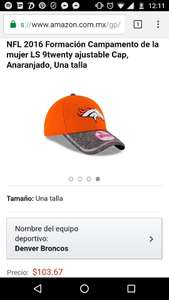 Amazon: Gorra New Era Broncos de Denver
