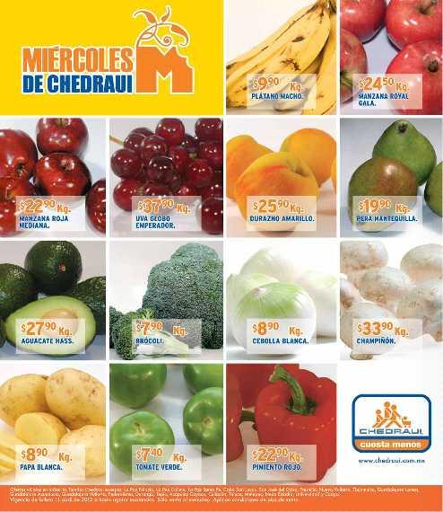 Miércoles de frutas y verduras Chedraui abril 11: piña y jitomate $5.40 Kg c/u y más