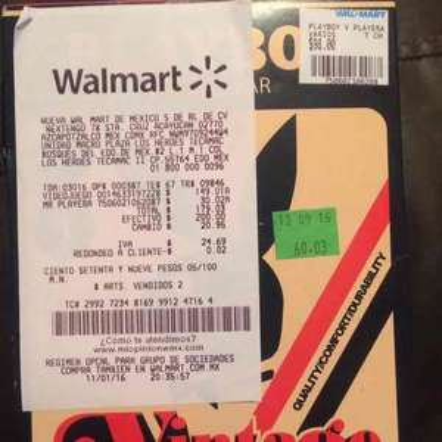 Walmart: playera Playboy a $30.02