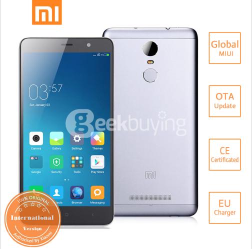 Geekbuying: Xiaomi Redmi Note 3 Pro 149 USD 3GB RAM, 32 GB ROM Gray