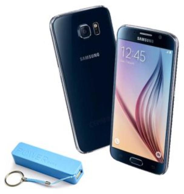Linio: Samsung Galaxy S6 32 GB Azul Liberado + Batería portátil