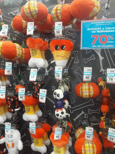 Petco: juguetes para perro Halloween con 70% de descuento