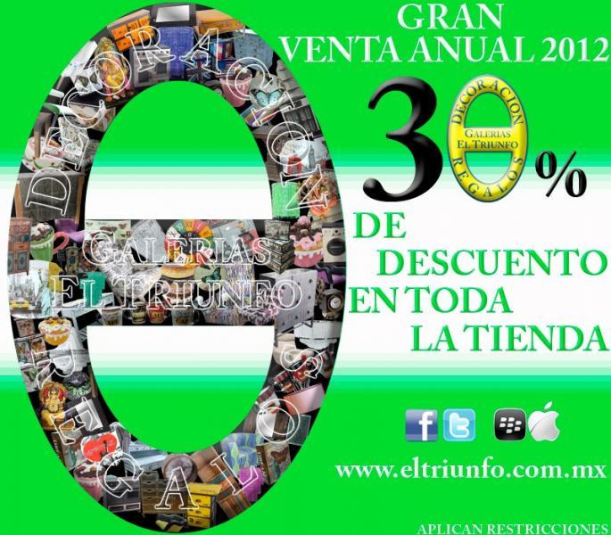 Galerías El Triunfo: 30% de descuento en toda la tienda