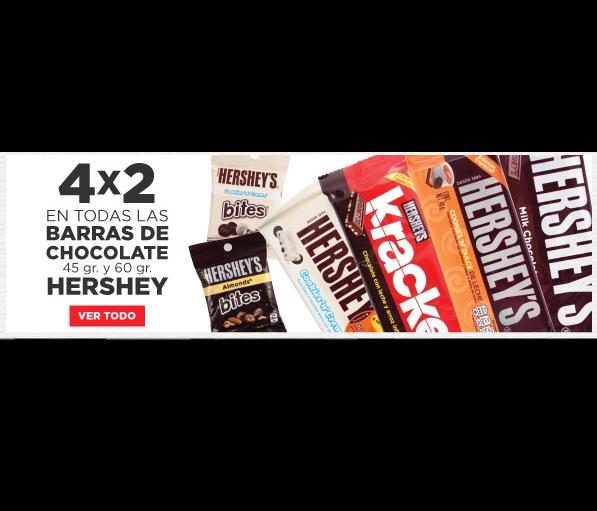 HEB en línea: 4x2 en chocolate HERSHEY´S