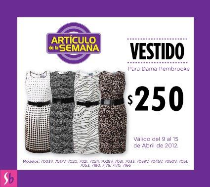 Artículo de la semana en Suburbia: vestido para dama $250