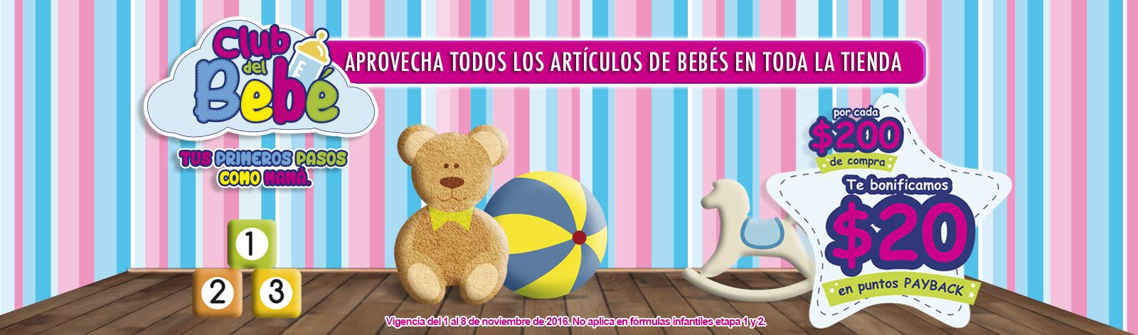 Comercial Mexicana y Mega: Club del Bebé, por cada $200 de compra te bonifican $20 en puntos Payback