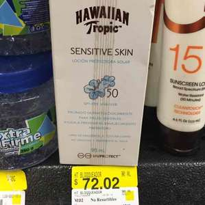 Walmart: bloqueador solar hawaiian tropical FPS50 y cortinas