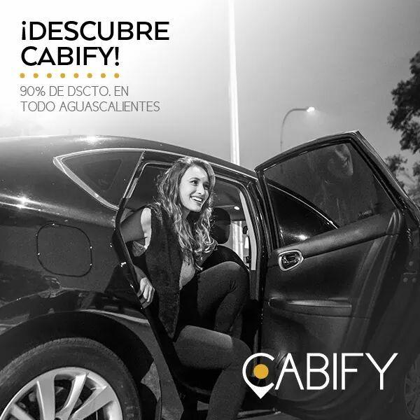 Cabify Aguascalientes: todos los viajes con 90% de descuento solo hoy