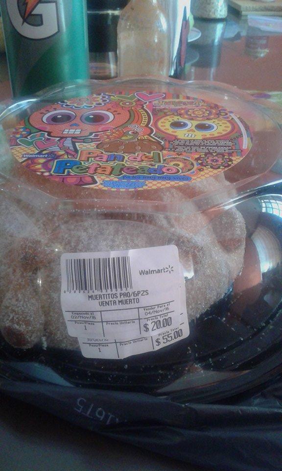 Walmart: pan de muerto de $50 a $20