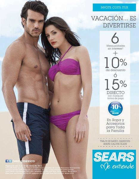 Sears: 6 MSI y 10% de descuento o 15% de descuento en ropa y accesorios