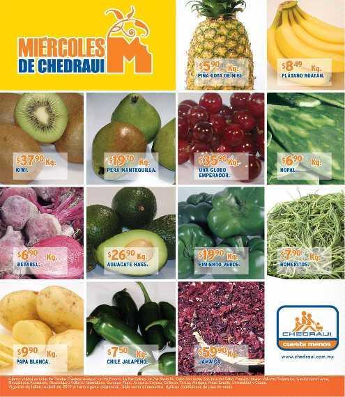 Miércoles de frutas y verduras en Chedraui abril 4: cebolla blanca $2.50, manzana $16.90 y más