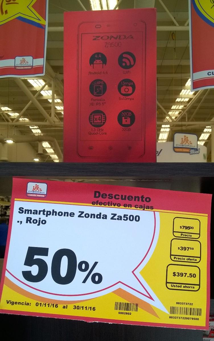 Chedraui Mérida: Celular Zonda 5 pulgadas a $397.50