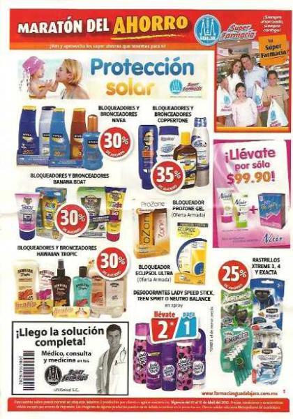 Farmacias Guadalajara abril 1-15: 2x1 en Teen Spirit, Axe, Rexona, 2x1 línea Folicuré y más