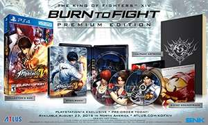 Amazon USA oferta Flash: The King of Fighters XIV: Burn to Fight Premium Edition - PlayStation 4