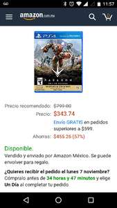Amazon Mexico: Paragon PS4
