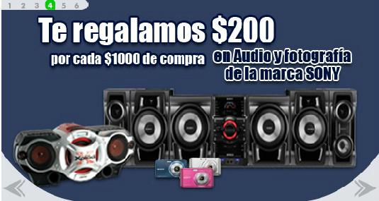 Comercial Mexicana: $200 de regalo por cada $1,000 en audio y fotografía Sony