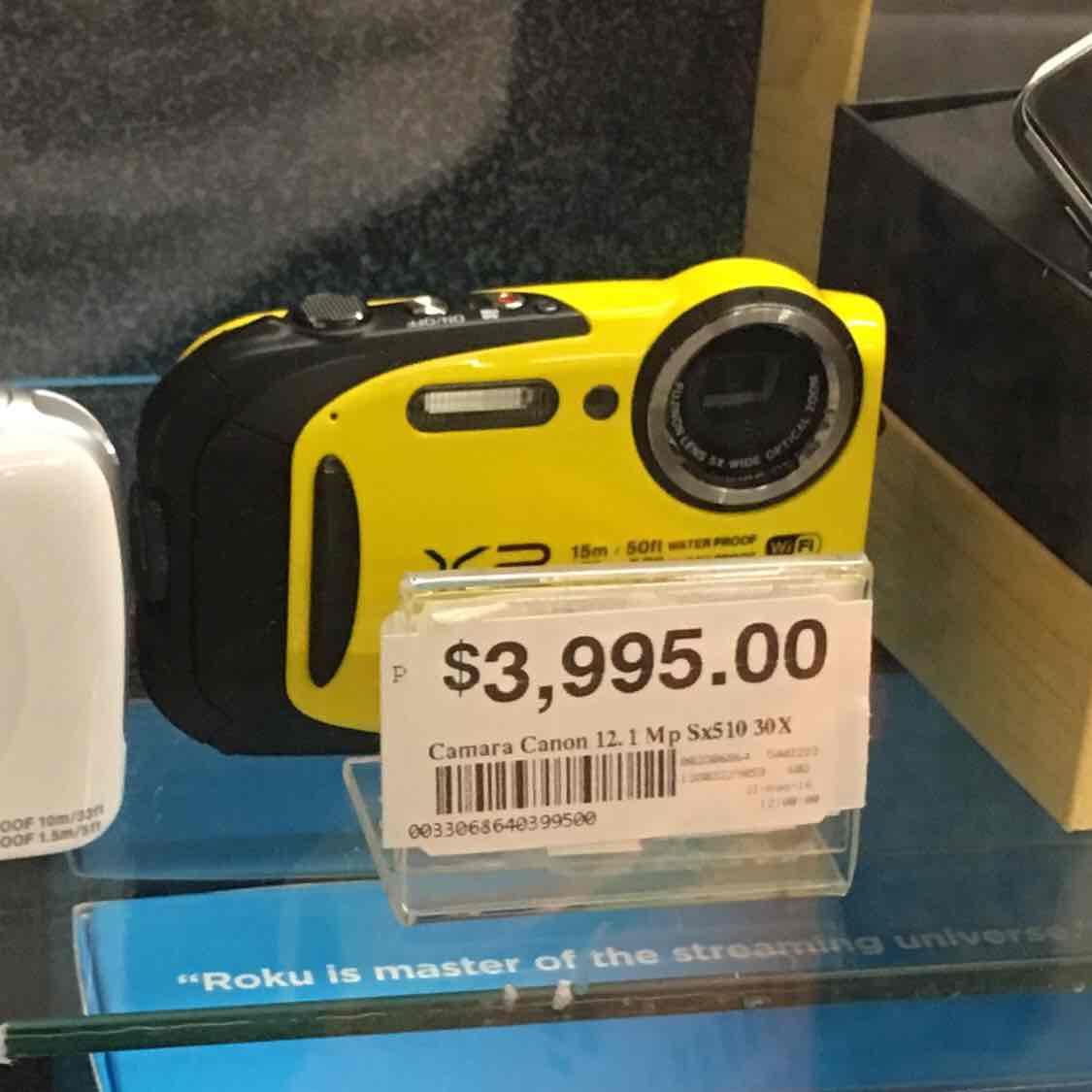 Chedraui: cámara digital Fujifilm XP80 16mpx a prueba de agua y golpes a mitad de precio