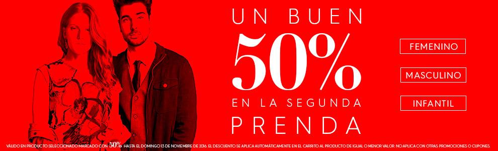 Ösom y Promoda en Línea: 50% de descuento en la segunda prenda