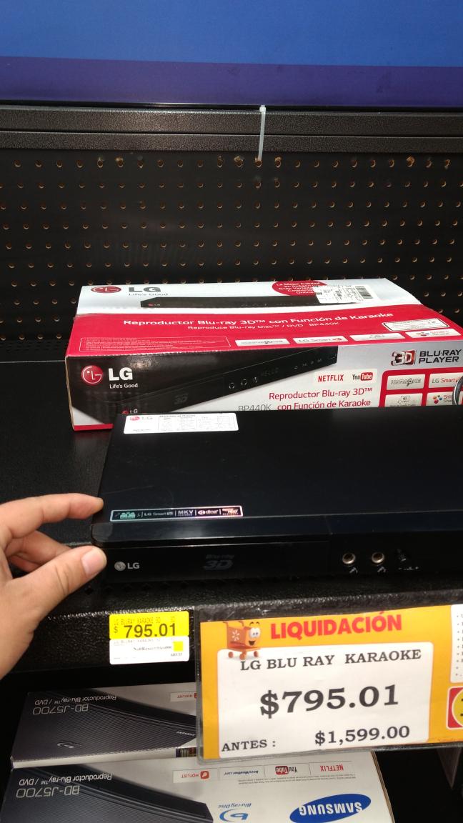 Walmart: reproductor Blu-ray 3D y karaoke LG en remate a $795.01