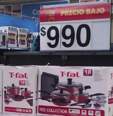Walmart: Batería de Cocina T-Fal a $990