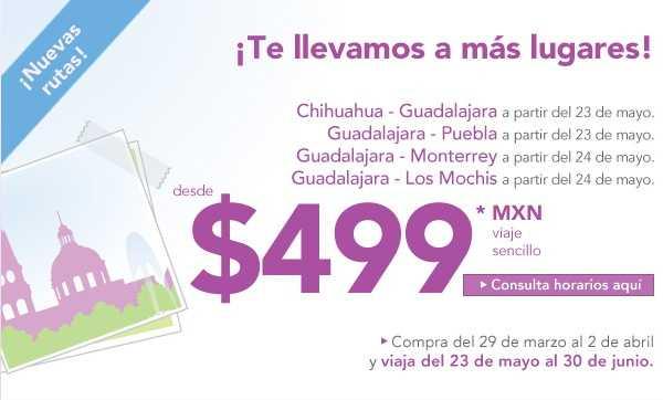 Volaris: nuevas rutas para Guadalajara desde $499 (sencillo)