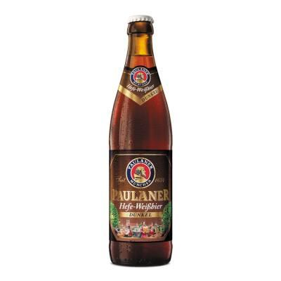 Superama: Cerveza oscura Paulaner hefe weissbier dunkel botella de de 500 ml (3 x $130) Precio Normal de 1 cerveza $64.99