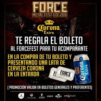 Force Metal Fest: Boletos 2x1