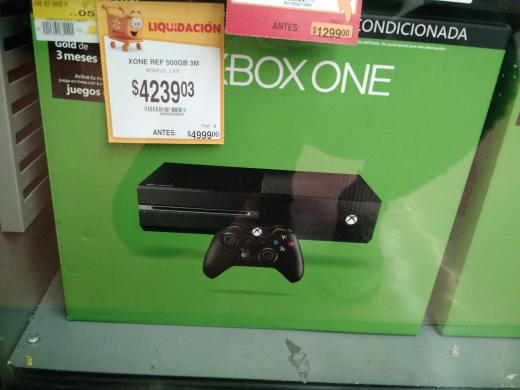Walmart Tres Ríos Culiacán: Xbox One 500GB reacondicionado con 3 meses de gold