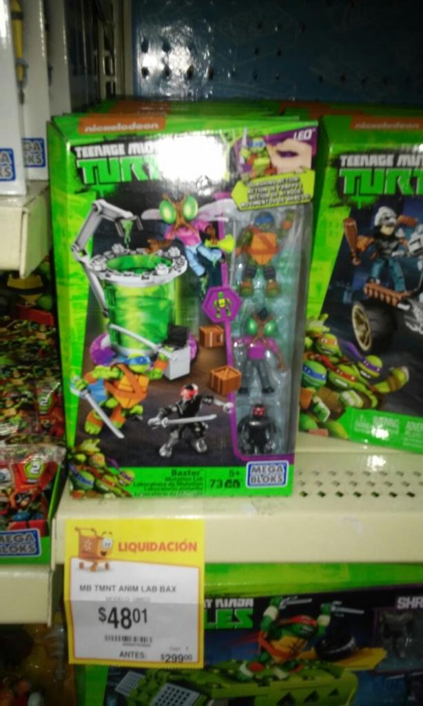Walmart La cuspide: juguete de mega blocks de las tortugas ninja en $48.01 y mas