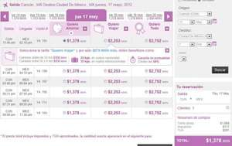Volaris: DF - GDL $908 y Cancún - DF $1,511 o menos
