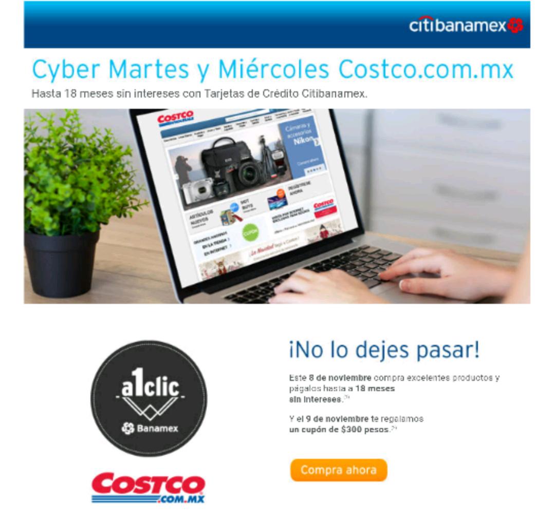 Costco en línea: cupón de $300 comprando con Citibanamex.